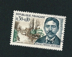 N° 1472 Marcel Proust 1871-1922   France Timbre Oblitéré 1965 - Francia