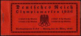 GERMANY - BOOKLET - OLYMPIC GAMES BERLIN 1936 - POSTMARK BERLIN OLYMPIA STADION 15/8/36