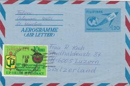 Aerogramme In Die Schweiz (br0552) - Philippines