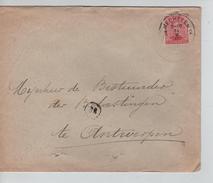 TP 138 S/L.de Fortune C.Mechelen 14/2/1919 V.Antwerpen C.d'arrivée PR4579 - Postmark Collection