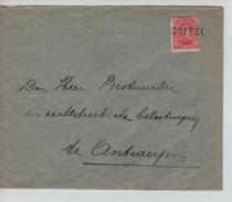 TP 138 S/L.de Fortune Griffe Duffel V.Antwerpen C.d'arrivée 23/1/1919 PR4580 - Postmark Collection