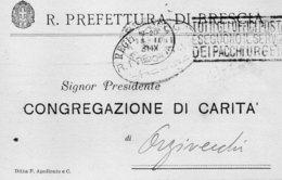 1931 CARTOLINA CON ANNULLO BRESCIA + TARGHETTA - Storia Postale