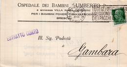 1931 LETTERA CON ANNULLO BRESCIA + TARGHETTA - Storia Postale