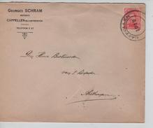 TP138 S/L.de Fortune Georges Schram Notaris C.Cappellen En 1919 V.Antwerpen C.d'arrivée 22/1/1919 PR4583 - Postmark Collection