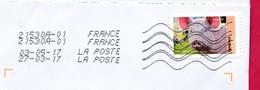 2017 /France - Sur Enveloppe DL - DOUBLE EMPREINTE TOSHIBA DEUX DATES DIFFERENTES - Cartas