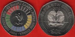 """Papua New Guinea 50 Toea 2015 """"XV Pacific Games"""" Colored UNC - Papouasie-Nouvelle-Guinée"""