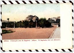 Y260 GRECE ATHENES L'ACROPOLE VUE DE ZAPPION 2 SCANS - Grèce