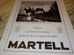 PUBLICITE COGNAC  MARTELL 1936 - Alcools