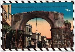 Y273 GRECE SALONIQUE L'ARC DE TRIOMPHE D'ALEXANDRE LE GRAND 2 SCANS - Grèce