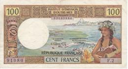BILLETE DE NOUMEA DE 100 FRANCS DEL AÑO 1969 (BANKNOTE) EMISSION D'OUTRE-MER - Billetes