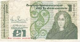 BILLETE DE IRLANDA DE 1 POUND DEL AÑO 1988  (BANKNOTE) - Irlanda