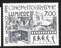 Monaco 1995 100th Anniversary Cinema  Mi 2262  MNH(**) - Mónaco