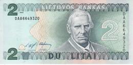 BILLETE DE LITUANIA DE 2 LITAI DEL  AÑO 1993   (BANKNOTE) SIN CIRCULAR-UNCIRCULATED - Lithuania