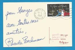 (A503) Signature / Dédicace / Autographe Original Rhonda Bachmann - Cantatrice - Comédienne - Autographes