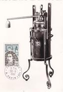 Carte-Maximum FRANCE N° Yvert 1345 (Denis PAPIN - MARMITE) Obl Sp Paris Rue Papin (Ed Arts Et Métiers) RR - 1960-69