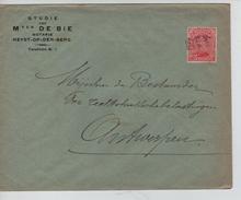 TP 138 S/L.de Fortune à En-Tête De Bie Notaris Griffe Heyst Op De Berg V.Antwerpen C.d'arrivée 29/12/1918 PR4593 - Postmark Collection