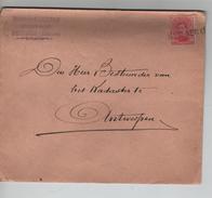 TP 138 S/L.de Fortune à En-Tête Prosper Cassiers Géomètre Expert Griffe Berlaer(Lier) V.Antwerpen 3/1/1919 PR4594 - Postmark Collection