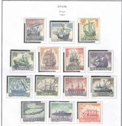 Spagna 1964 Ships Navi N.14 Valori Scott.1248/1261 See Scans - 1961-70 Neufs