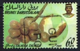 BRUNEI - 1989 - FRUTTI ESOTICI:  SALACCA ZALACCA - USATO - Brunei (1984-...)