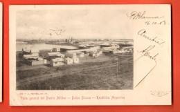 IBV-20  Bahia Blanca Vista General Del Puerto Militar..Petit Pli Angle Used In 1903 To France. Pioneer. - Argentine