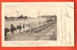 IBV-21  Bahia Blanca Procesion De N. S. De La Mercedes Por La Calle Alsina Used In 1903 To France. Pioneer. - Argentine