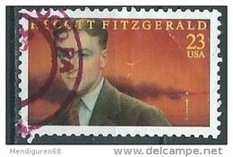 USA 1996 F. SCott Fitzgerald  23¢ USED SC 3104 YV 2547 MI 2768 SG 3239 - Etats-Unis