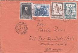 VATICAN Brief 1965, 4 Sondersmarken - Vatikan