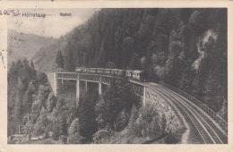 HÖLLSTEIGBAHN Viadukt Karte Gel.1913 - Eisenbahnen