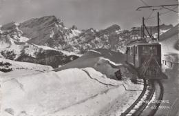 VAUD BRETAYE Elelktrische Bahn Mit Schneepflug, Orig. Fotokarte Gel.1949? - Eisenbahnen