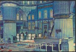 °°° 4527 - TURKEY - SAHESERLERI - INTERIOR OF THE BLUE MOSQUE °°° - Turchia