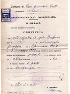 CERTIFICATO CON MARCHE COMUNALI -  S. GENNARO VESUVIANO - Erinnofilia