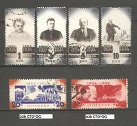 Russia/USSR 1934,Lenin 10th Death Anniv,Sc 540-545,VF USED/2 CTO's W/GUM
