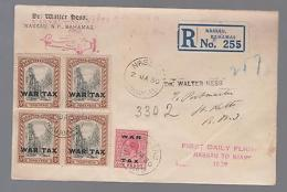 1930 Bahamas First Flight Cover To St. Kitts FFC Via Miami San Juan Saint John - Bahamas (...-1973)