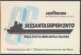 °°° 4554 - CONFITARMA - CONFEDERAZIONE ARMATORI ITALIANI DELLA FLOTTA NERCANTILE ITALIANA - 1988 °°° - Barche