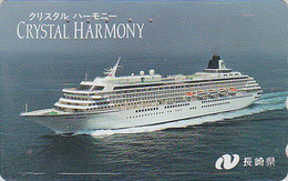Télécarte Japon / 110-011 - BATEAU - FERRY CRYSTAL HARMONY - SHIP Japan Phonecard -SCHIFF Telefonkarte - 420 - Barcos