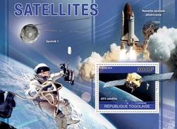 TOGO 2010 SHEET SATELLITES SPACE ESPACE GPS SATELITES ESPACIO SPUTNIK 1 Tg10405b - Togo (1960-...)