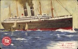 Artiste Cp Dampfschiff TSS Lapland, Red Star Line - Bateaux