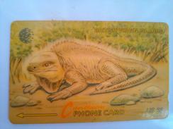 BVI Phonecard US$5 Lizard 23CBVB Spanish Reverse
