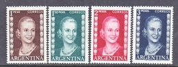 ARGENTINA  607-10   **    1952  Issue  EVA  PERON - Argentine