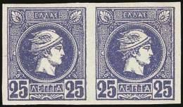 ** 25l. Ultramarine In Horizontal Pair, U/m. (Hellas 77b). VF. - Postzegels