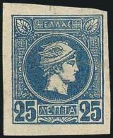 * 25l.light Indigo-blue (imperfor.) With Wmk.,m. (Hellas 77).Superb Copy. - Postzegels