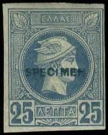"* 25l. with ""SPECIMEN"" (type I), m. (Hellas 66d-140 euro)."