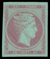 E 40l. Mauve On Blue, Final Colour Proof. Superb. - Postzegels