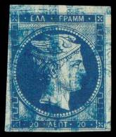 E PAPER COLOUR AND PRINTING METHOD PROOFS. Double Print Of 20l. Light Blue. (Konst. 5... - Postzegels