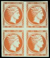 (*) 10l. Red-orange Without C.F. In Unused Block Of Four (pos.22-23/32-33), Paper Porous On The Intermediate Margin... - Zonder Classificatie