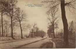 CPSM Juvisy Route De Paris Et Les Belles Fontaines - Juvisy-sur-Orge