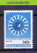 Mgm1334 INTERNATIONALE VROUWENRAAD INTERNATIONAL COUNCIL OF WOMEN FRAUENRAT INDONESIA 1988 PF/MNH