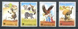 197 ZAMBIE 1979 - Yvert 193/96 - Lapin Zebre Rapace Lievre - Neuf ** (MNH) Sans Trace De Charniere - Zambie (1965-...)