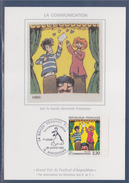 = La Communication La Bande Dessinée Française Carte Postale 16 Angoulême 29.1.88 N°2506 Oeuvres De Fred - Maximum Cards
