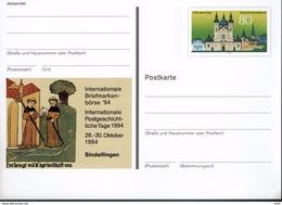 Deutschland 1994 - Postkarte - Sindelfingen (Markenbild: Fulda Mit Kloster) - Klöster